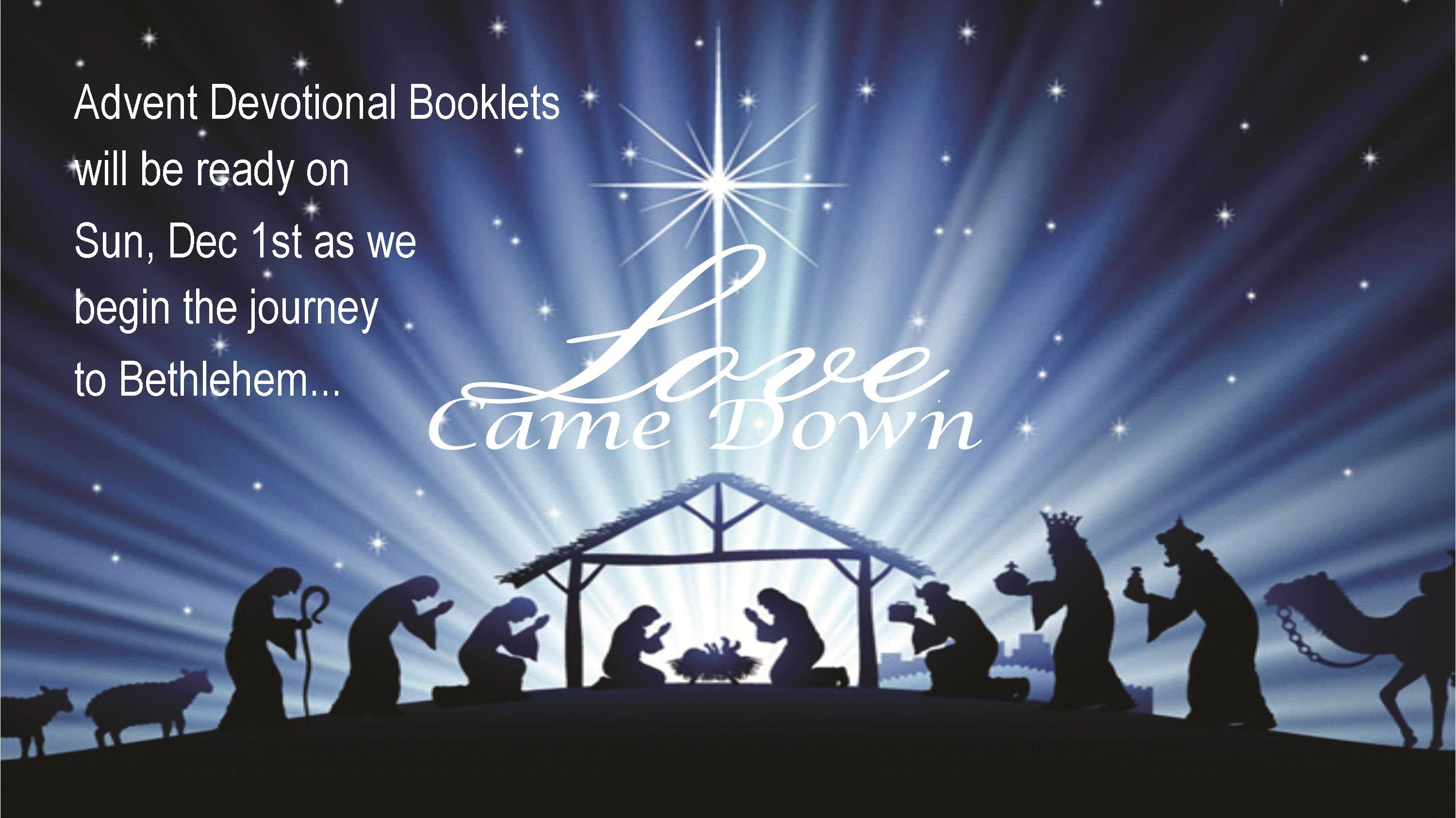 Advent Booklets Worship Slide
