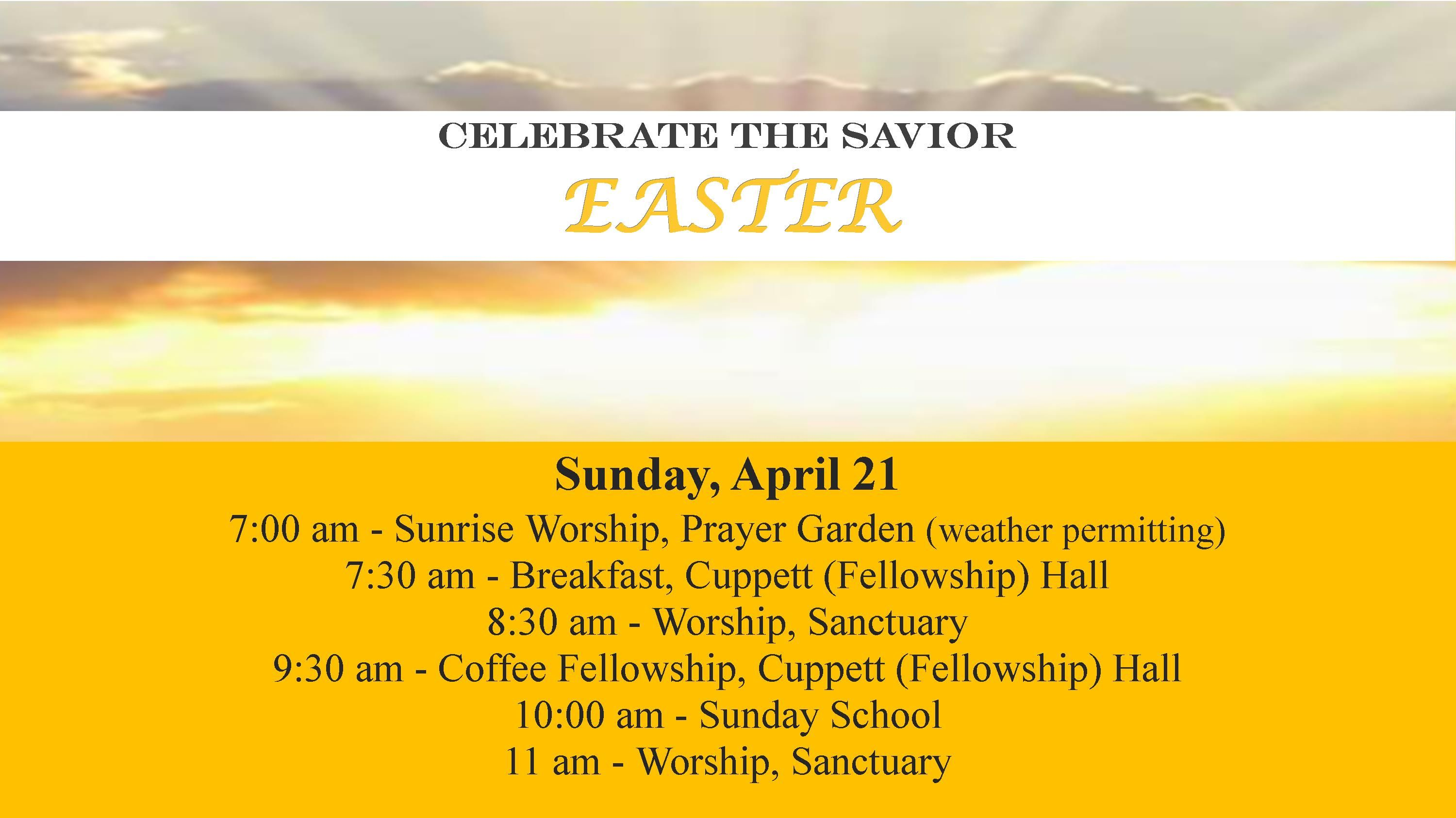 Easter Schedule 2019 Worship slide 2