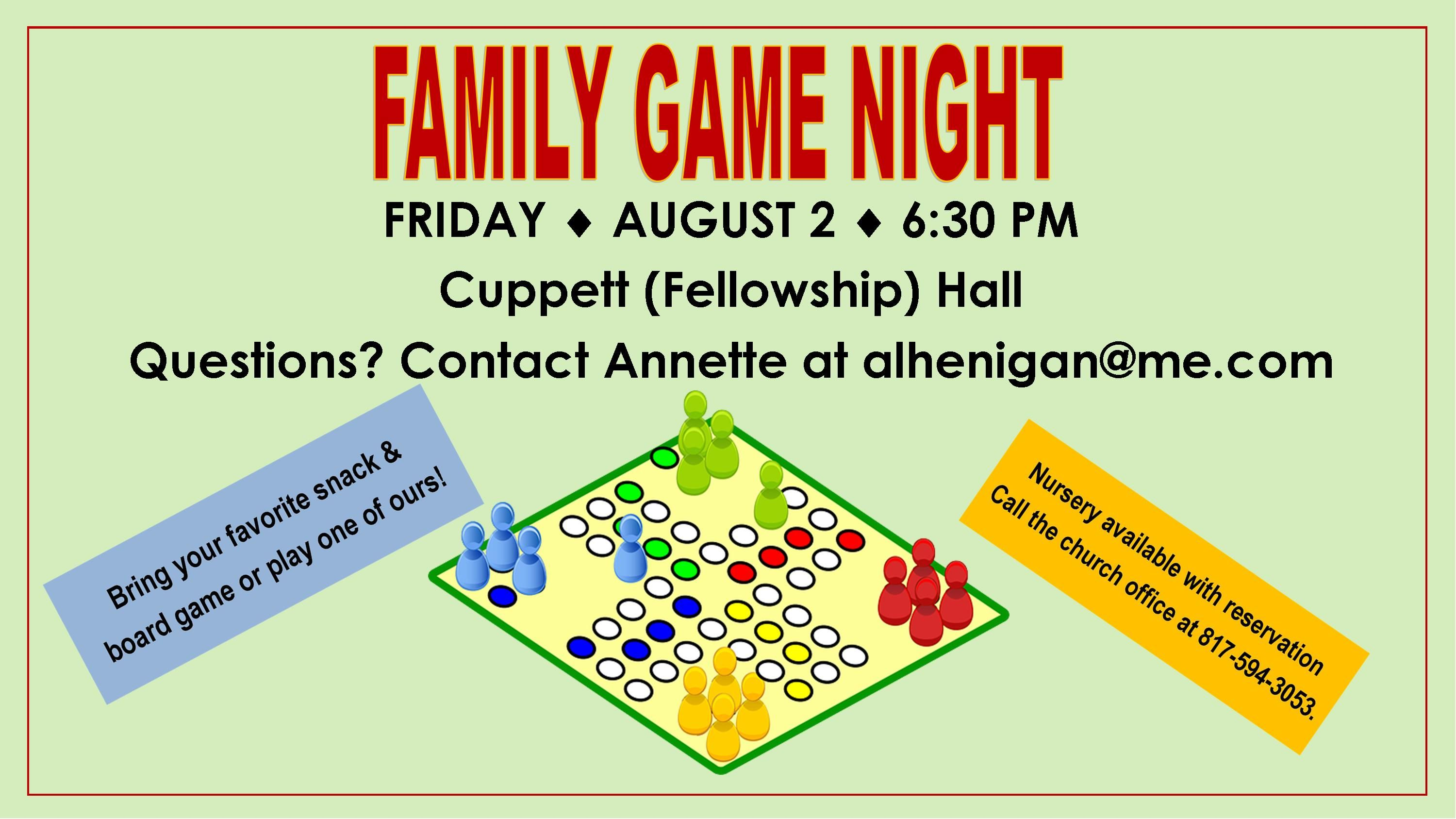 Game Night August