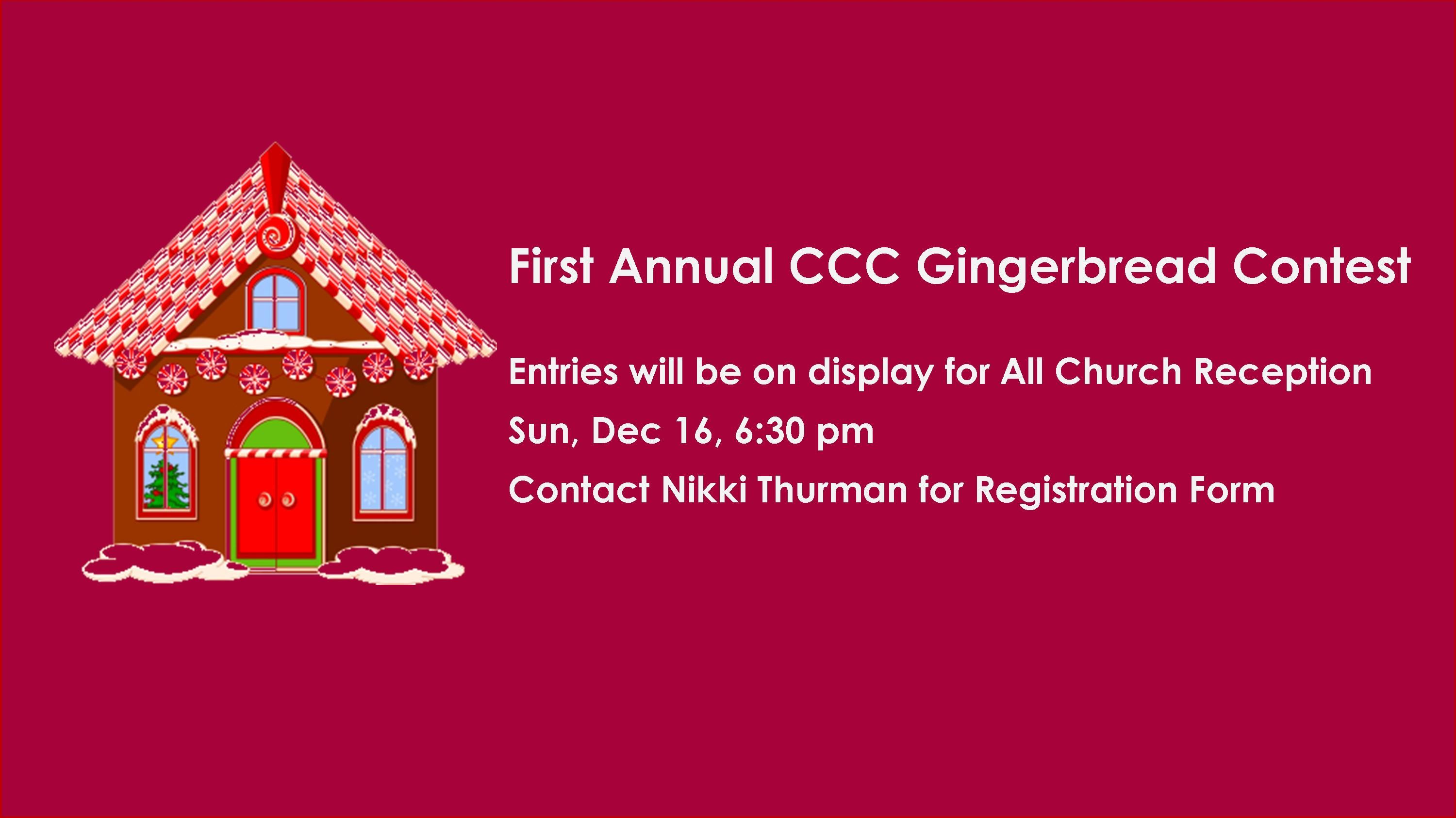 Gingerbread Contest Worship Slide