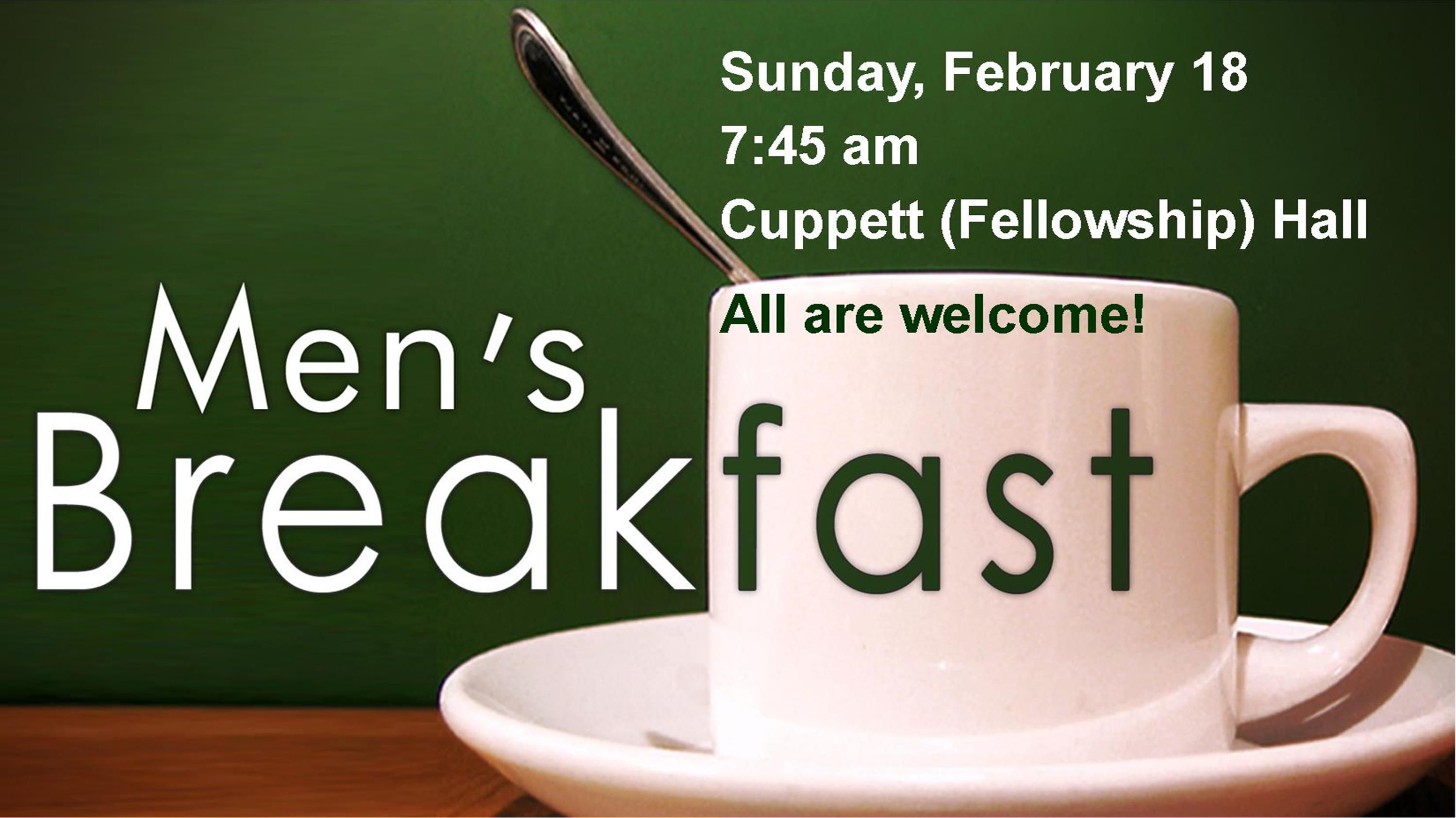 Mens Breakfast Feb 2018 Worship Slide