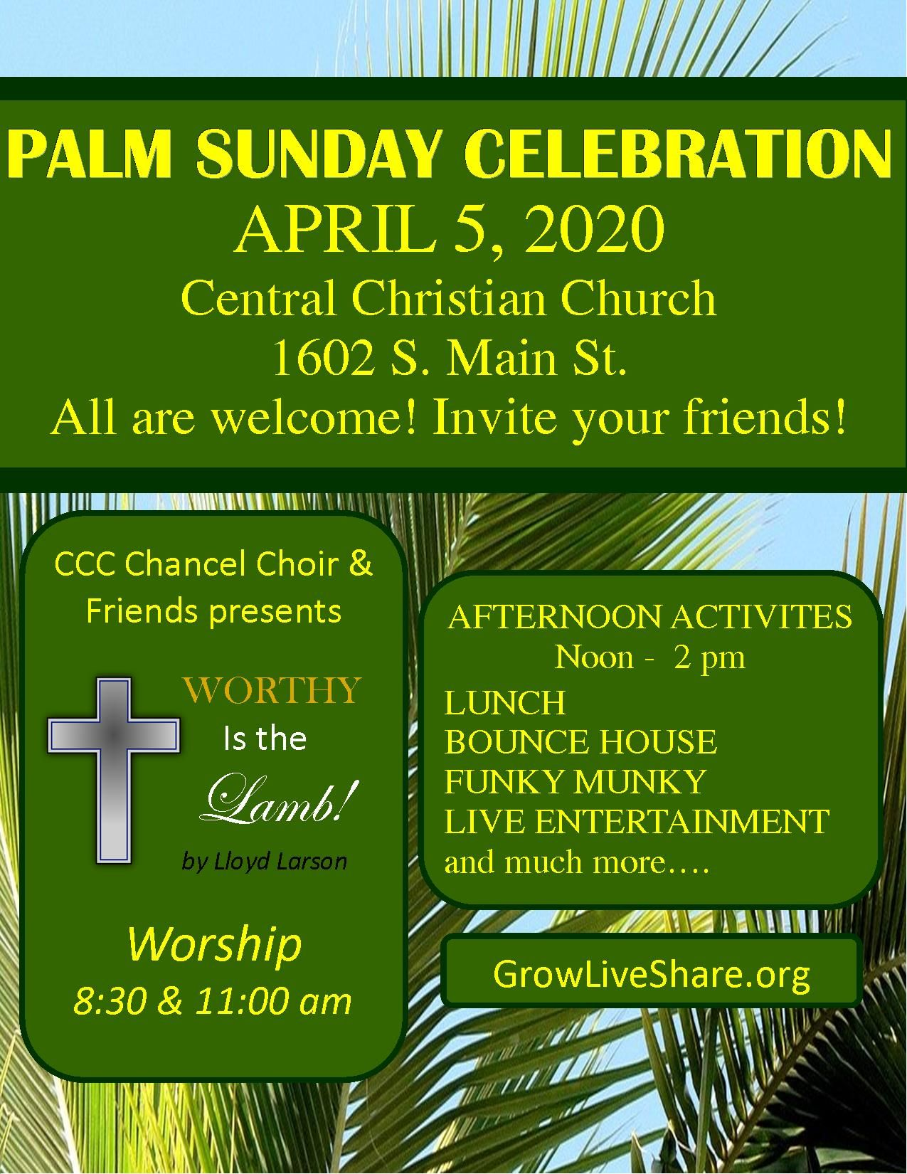 Palm Sunday Celebration 2020