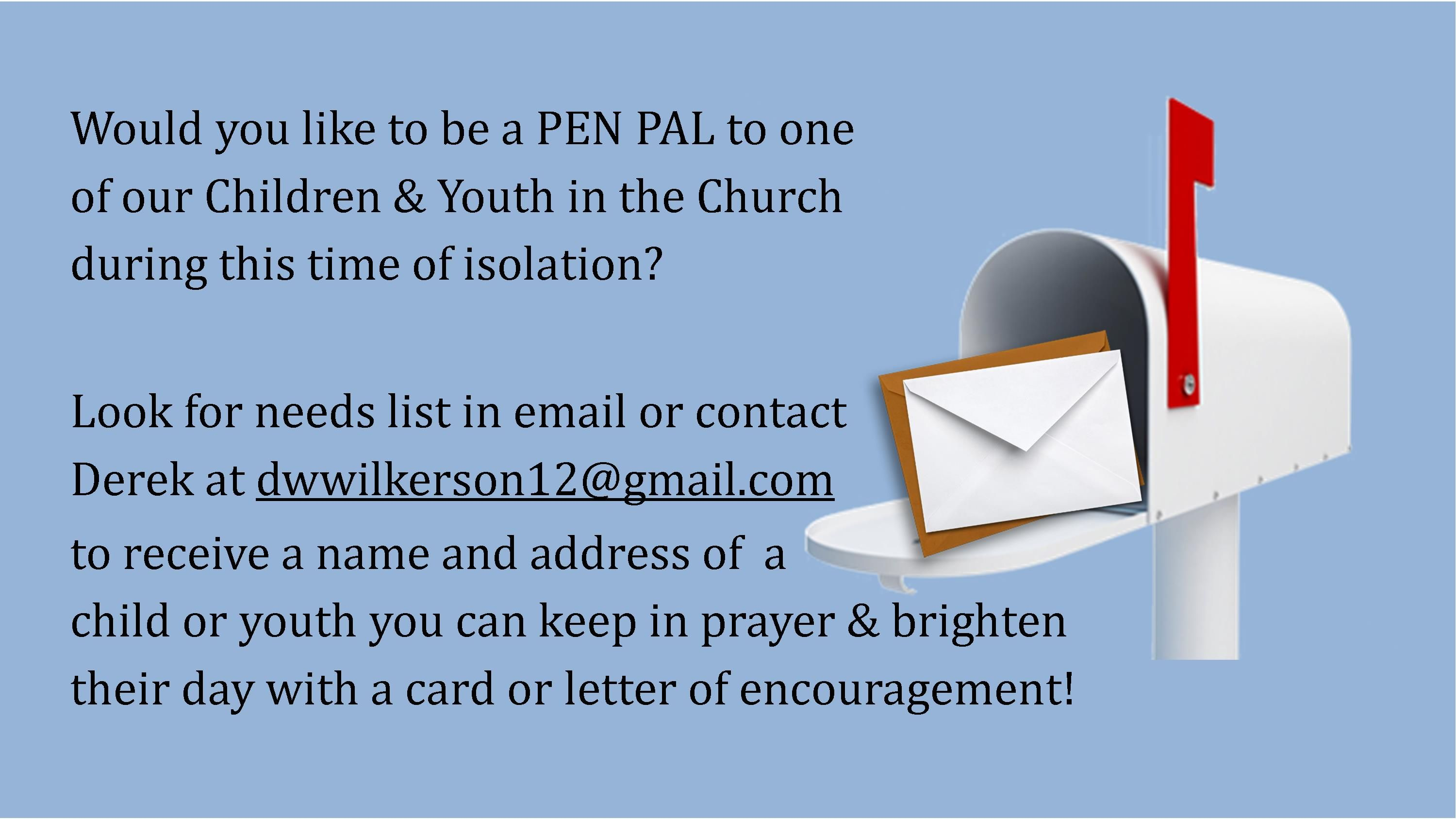 PenPals for Children Youth