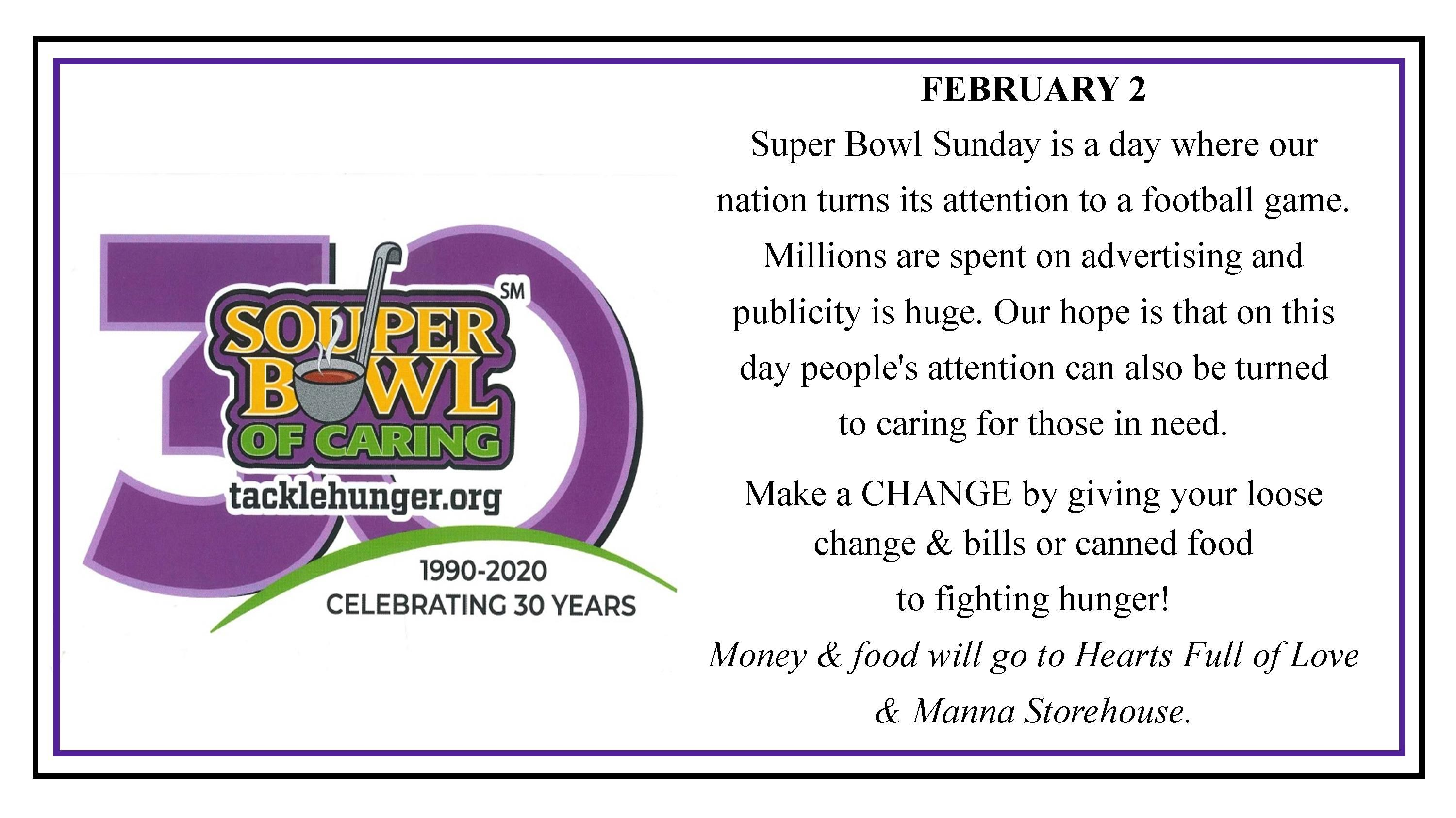 Souper Bowl of Caring NB