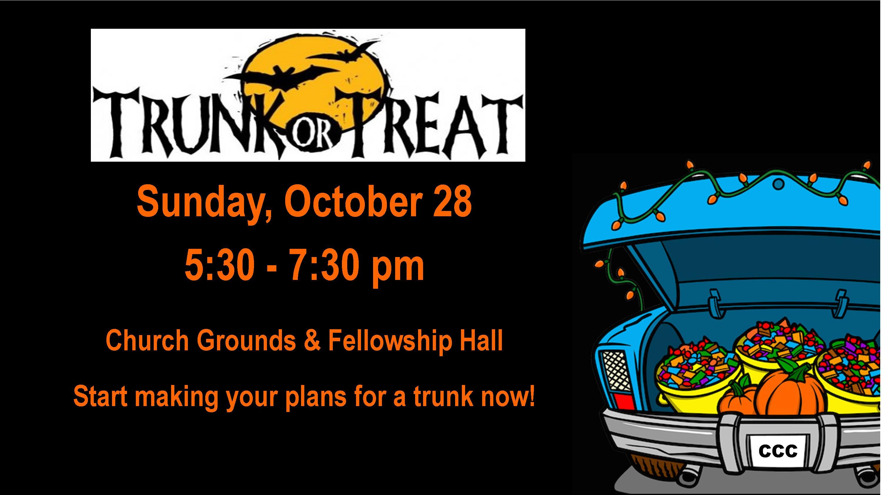 Trunk or Treat 2018 Worship Slide