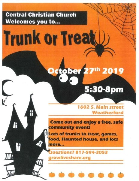 Trunk or Treat 2019 2