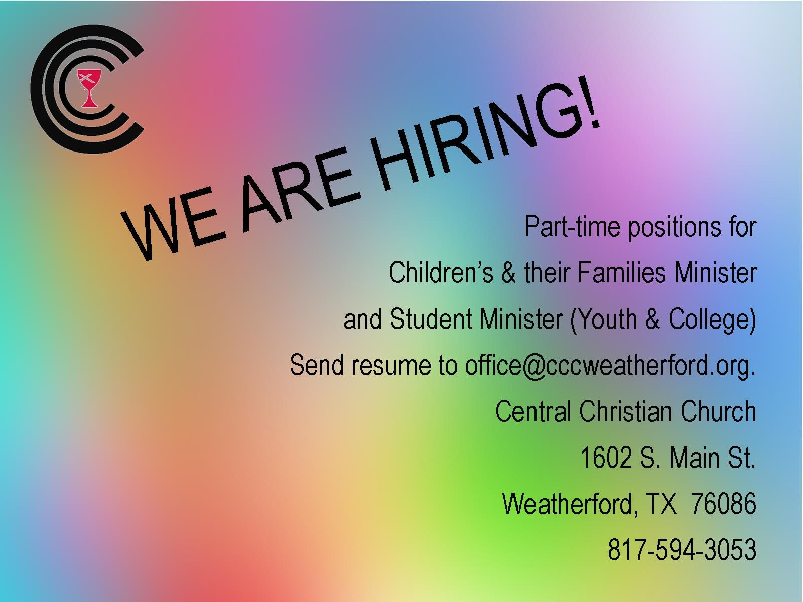 We are Hiring 2018