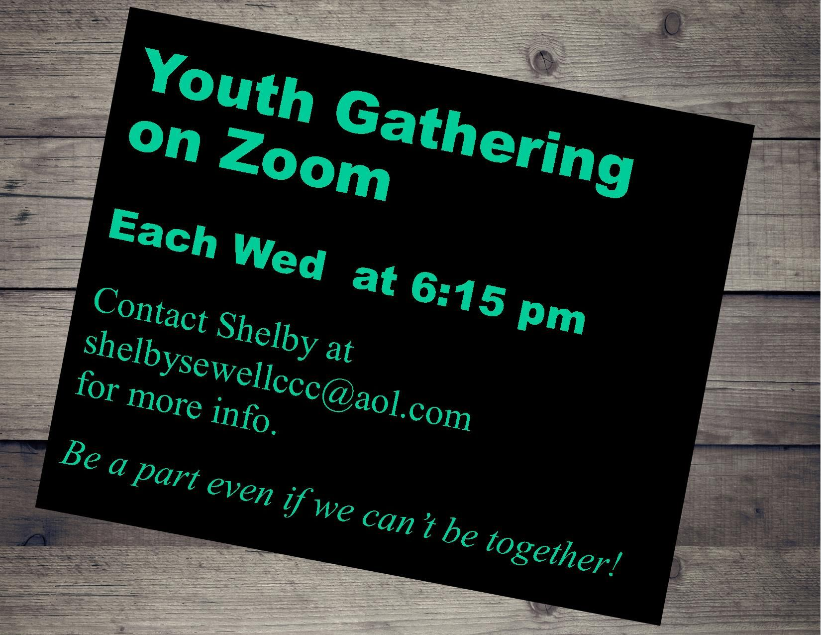 Youth Zoom Gatherings